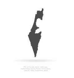 Map israel isolated black on vector