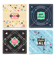 Material design concept banners vector