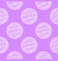 Montreal seamless pattern vector
