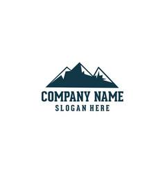 Mountain logo design vector
