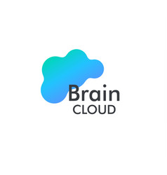 online brain cloud storage vector image