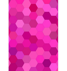 Pink abstract hexagonal tile mosaic background vector image vector image