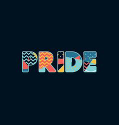 pride concept word art vector image