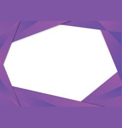 Purple triangle frame border vector