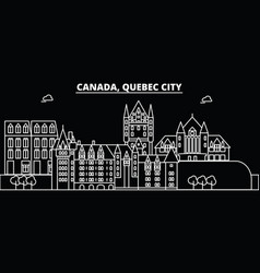 Quebec city silhouette skyline canada - quebec vector