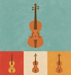 Retro Violin vector image