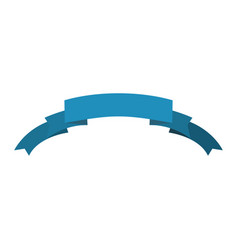 Ribbon isolated template blue decorative tape for vector