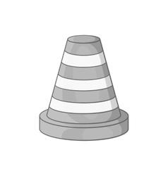 Road repair sign icon black monochrome style vector image