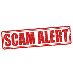 Scam alert stamp vector