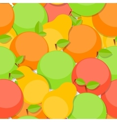 Seamless Pattern Background from Apple Orange and vector