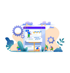 search engine optimization web site page vector image