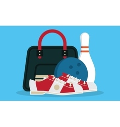 set bowling icons vector image