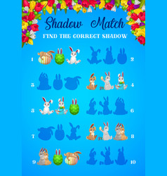 shadow matching easter game kids education vector image