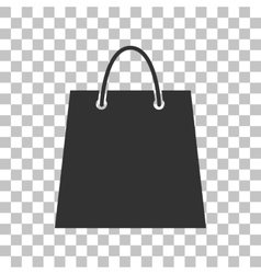 Shopping bag Dark gray icon on vector image