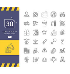 Simple set construction related icons vector