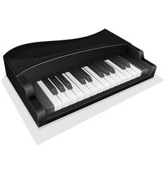 small black piano vector image