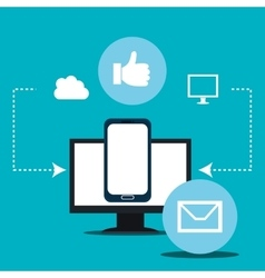 Social media and technology vector image