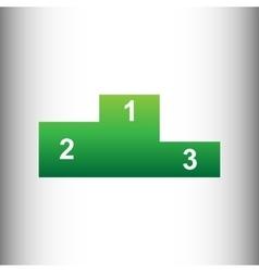 Sofa sign Green gradient icon vector