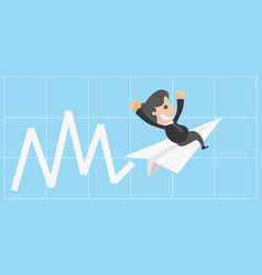 Successful entrepreneurs quickly background vector