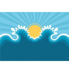 symbol of wavesblue nature seascape for design vector image