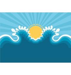 Symbol wavesblue nature seascape for design vector