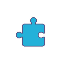 Team puzzle piece fill style icon vector