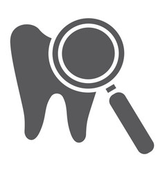 teeth examination glyph icon mouth and dental vector image