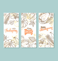 thanksgiving vintage poster vector image