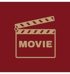 The clapper board icon Movie symbol Flat vector