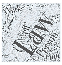 the law attraction and relationships word cloud vector image