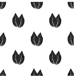 Violet basil icon in black style isolated on white vector
