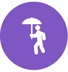 Walking in rain vector