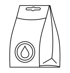 Washing detergent icon outline style vector