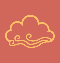 Wind and cloud icon in flat style isolated vector