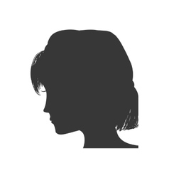 Woman head silhouette female avatar icon vector