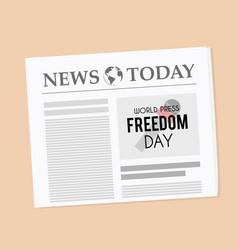 World press freedom day newspaper banner vector