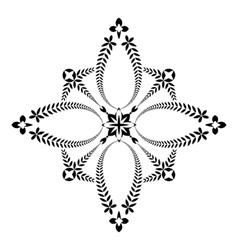 Laurel wreath tattoo Unusual cross sign ornament vector image vector image