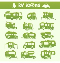 Recreational Vehicle set vector image