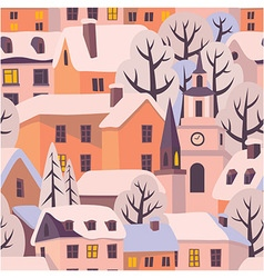 Winter twilight pattern vector image