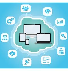 Abstract cloud computing vector image vector image