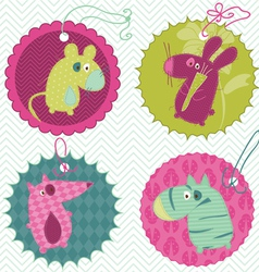design elements for baby scrapbook vector image vector image