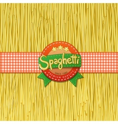 Drawn spaghetti and labels for them vector image vector image