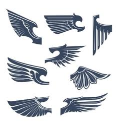 Heraldic wings for coat of arms design vector image