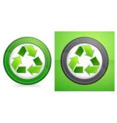 recycle in round vector image