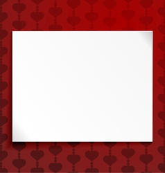 Abstract background with a blank sheet of paper vector image