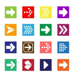 Arrow sign icon set isolated on white background vector image