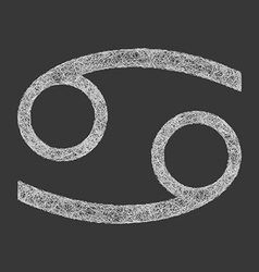 Cancer zodiac sign line art vector