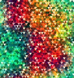 Colorful triangle seamless texture with grunge vector