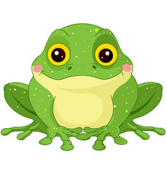 Green toad vector