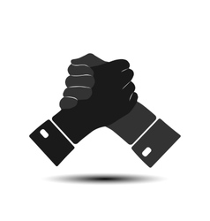 Icon handshake vector image vector image